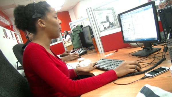 Digicel employees wear pink