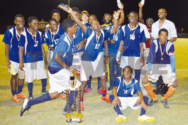 Gros Islet SLFA Inter District men's Under - 18 champions (Anthony De Beauville)