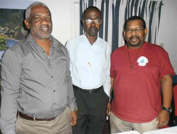 Image: Right to left Kingsley St.Hill (St. Lucia); Milton Coy (Grenada) and Junior Bacchus (St. Vincent & the Grenadines)