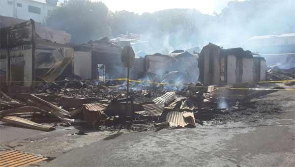 Image: Scene of last Thursday night fire [PHOTO: VallynGustave]