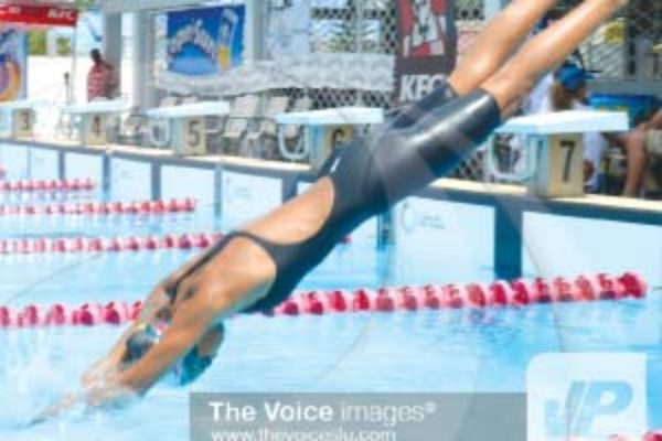 Sharks representative swimmer Katie Kyle top the girl's 11-13 category with a whooping 97 points..(PHOTO: Anthony De Beauville)