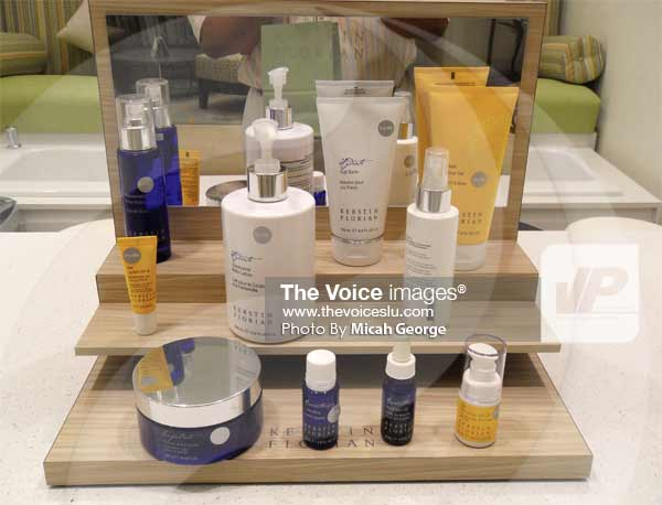 Image: Some of the products to be used at the Spa