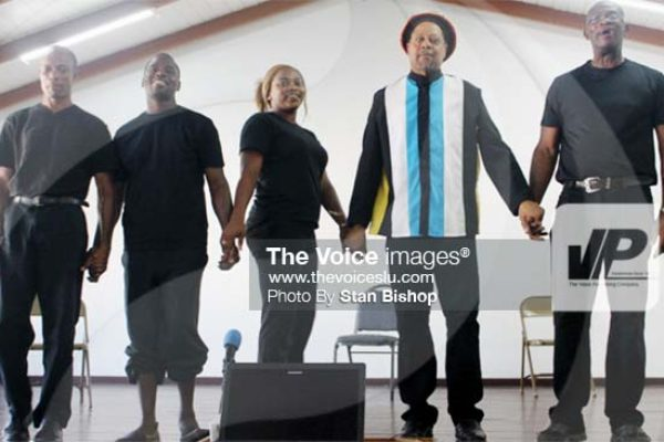 Image: The cast currently bringing the land policy message to the masses. [PHOTO: Stan Bishop]