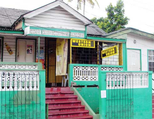 The Western Union office in Vieux Fort.