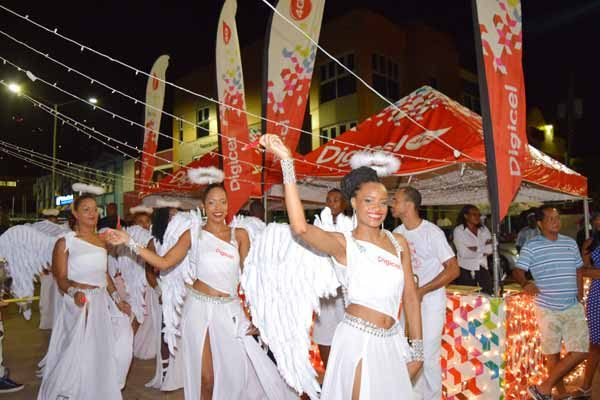 """Image: Digicel's """"angels"""" heralding the """"Brighten Your Christmas"""" promotion."""