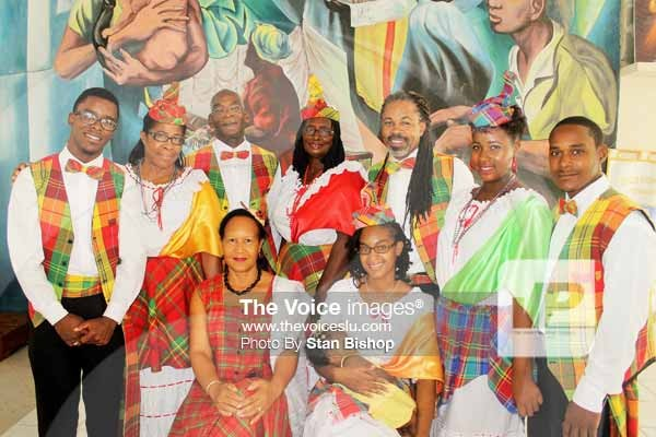 Image: Some members of the Claralites Folk and Traditional Dance Group at the Church of the Holy Family, Jacmel, in October. [PHOTO: Stan Bishop]
