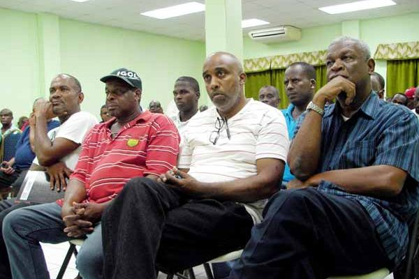 Image: Some of the taxi drivers at the workshop.