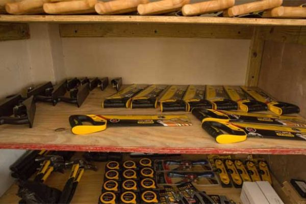 Image: Equipment for the carpentry project.