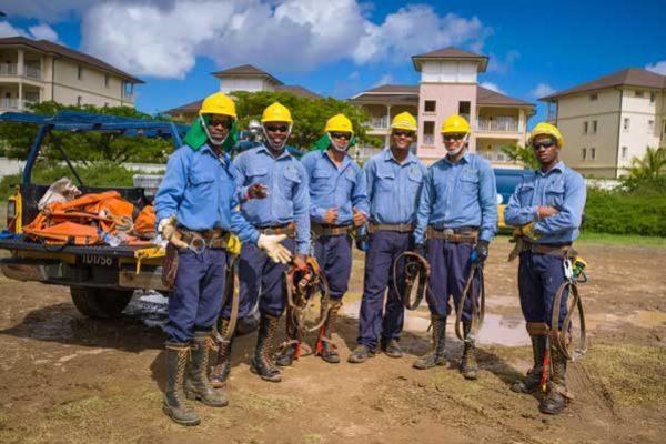 Image: LUCELEC's team of linesmen