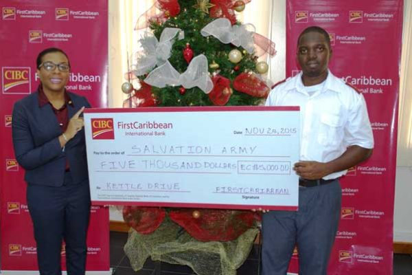 Image: Ladesa James-Willaims presents cheque to captain Broome