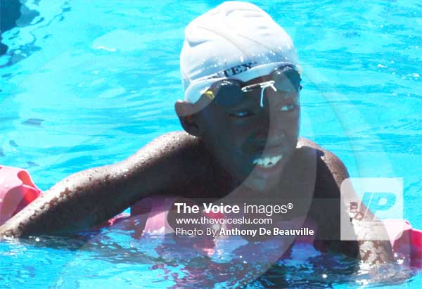 One of the outstanding performers for Sports Academy at Lucian Grand Prix swim meet Shaquil Flavius..(PHOTO: Anthony De Beauville))