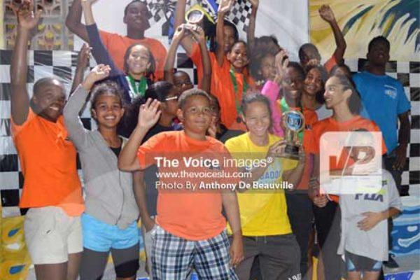 Sharks Swim Club Lucian Grand Prix Champions(PHOTO: Anthony De Beauville)