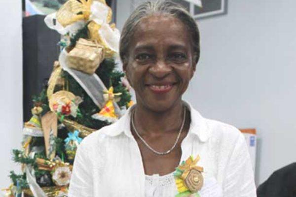 Shirley Ann Edward at this year's Saint Lucia-Taiwan Partnership [PHOTO: Stan Bishop]