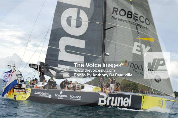 """Image: The """"Brunel"""" sails in. (PHOTO: Anthony De Beauville)"""