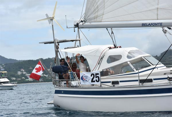Belafonte at the start in Saint Lucia © WCC / Lucia Ivanissevich.