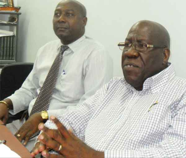 Image: L-R CSA President Cletus Cyril and general secretary Wilfred Pierre.