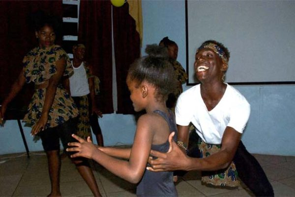 Image: Dancing and poetry were part of the Literary night.