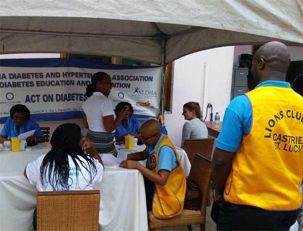 Diabetes screening at Cap Maison.
