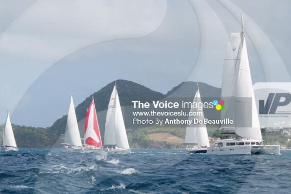 Image: World ARC 2015 sailing out of Rodney Bay (Photo By Anthony De Beauville)