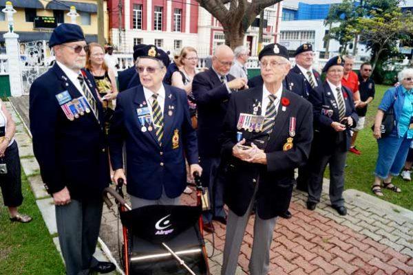 A Canadian Veterans at Derek Walcott Square.