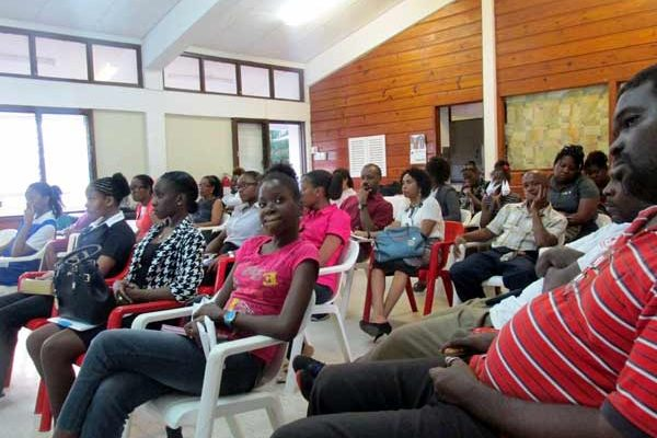 St. Lucia Red Cross Volunteers at Zika education session.