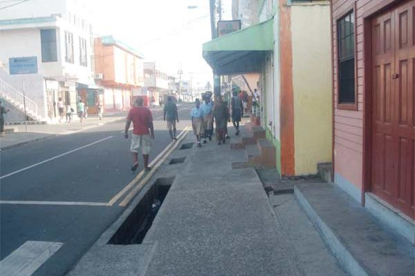 Image: Clarke Street, clear of Vendors.