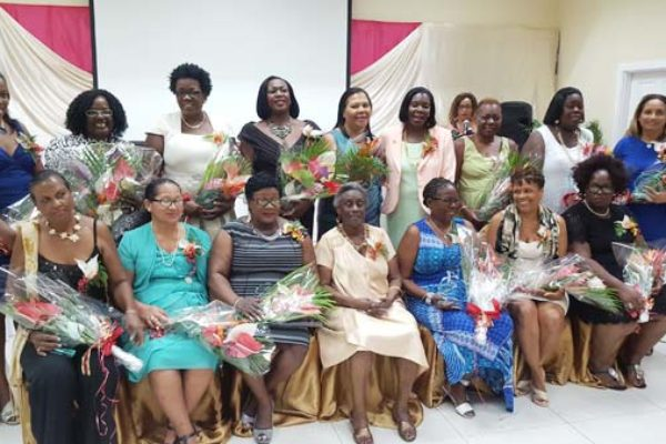 Image: Gros Islet Women's Day Awardees.