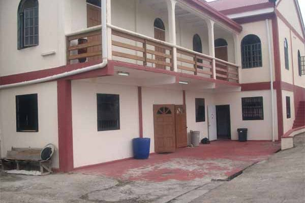 Image: The Augier Evangelical Church houses some of the students.
