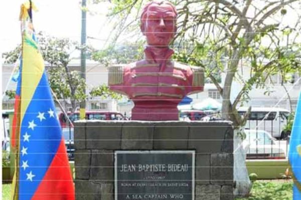 Image: Bideau's bust in Central Castries.
