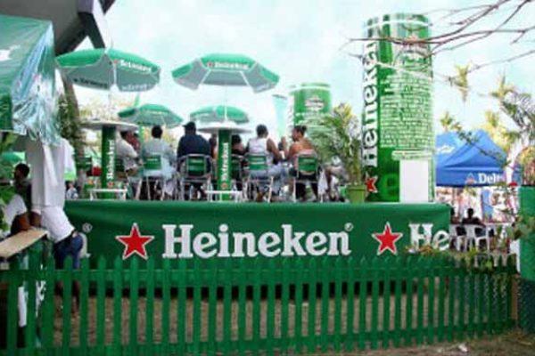 Image: Heineken beer garden at St. Lucia Jazz Festival.
