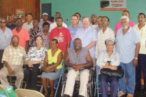 Image: Members of the St. Lucia Amateur Radio Club