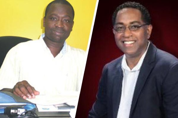Image: Timothy Poleon [Left] Choice TV CEO, Wayne Whitfield [Right]