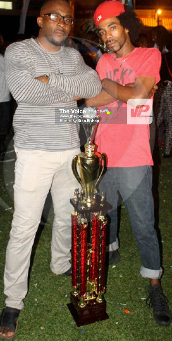 Image: Defending Power Soca Monarchs, Ricky T and Superman HD.[PHOTO: Stan Bishop]