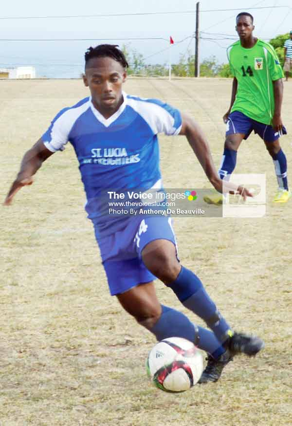 Image: Gros Islet Romiel Felix will be make the difference against his former team Central Castries this evening (Photo Anthony De Beauville)