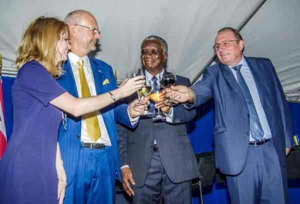 Image: P.M. Stuart and Ambassadors toast the occasion