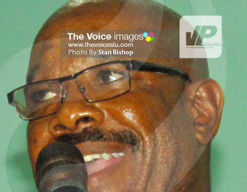 Castries Central MP, Richard Frederick. [PHOTO: Stan Bishop]