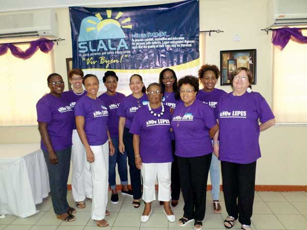 Image: Those in the front line in the fight against Lupus