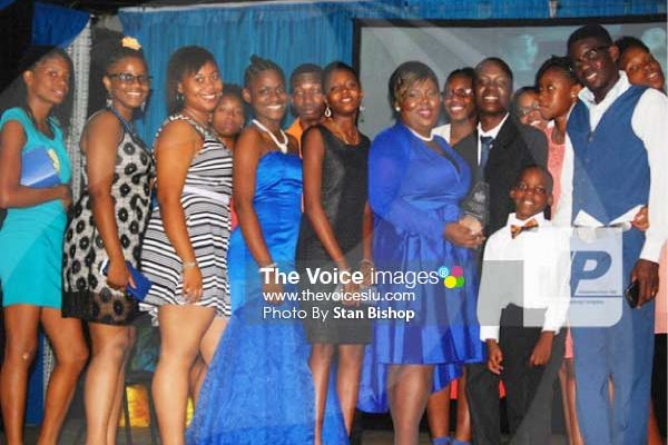 Image: YEAC (Saint Lucia) members at this year's National Youth Awards.
