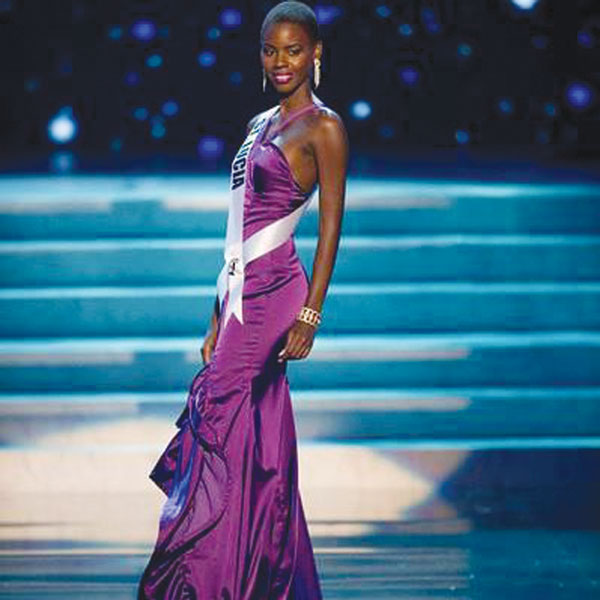 On stage at the Miss Universe
