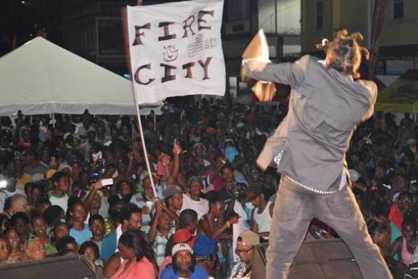 img: Islah Man performing at Carnival Vavalry on the William Peter Boulevard last Sunday.