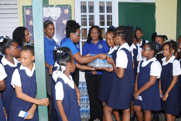 img:Presentation to one of the Schools