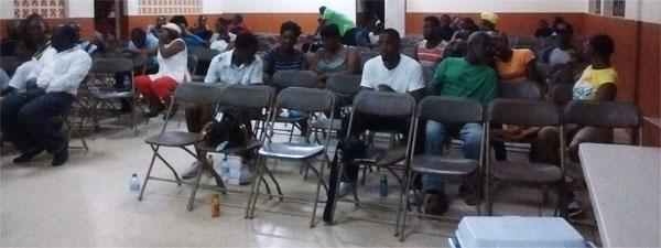 Image: Descendants of Jean Baptiste Bideau and residents of Desruisseaux attended the event.