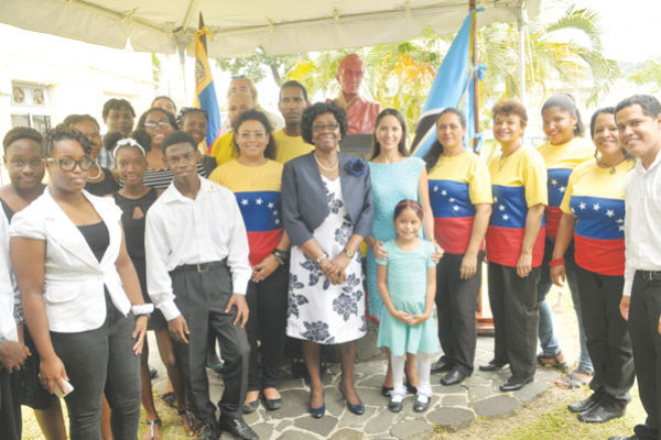 imh: Governor General Dame Pearlette Louisy with Venezuelans and Locals attending Independence activities.