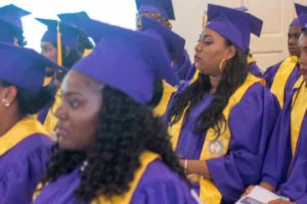 Image: Some of the 38 nurses who graduated last Sunday.