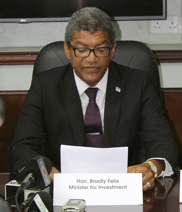 Image of Bradley Felix, Minister for Investment