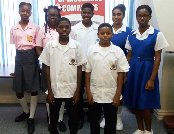 Image: Seven of the 11 bursary winners.