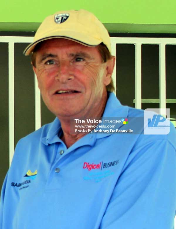 Image: St. Lucia Lifesaving Association President John Bruce (Photo Anthony De Beauville)