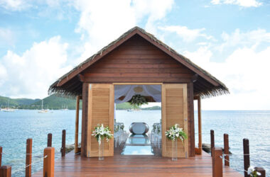 Image: The Sandals overwater wedding chapel