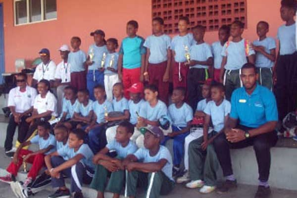 Image: The participants at the Vieux Fort camp.