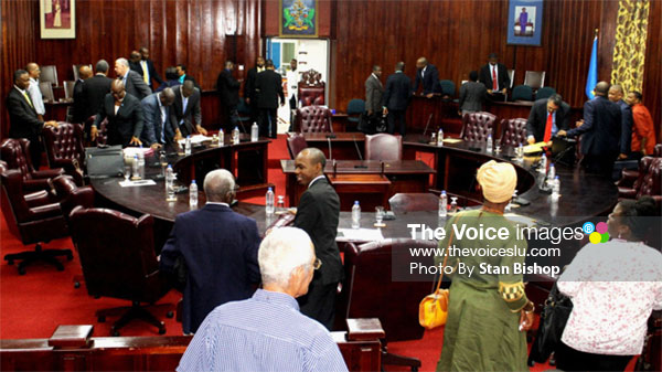 Image: Tuesday's House sitting ended abruptly following a series of gaffes by Prime Minister Allen Chastanet. [PHOTO: Stan Bishop]